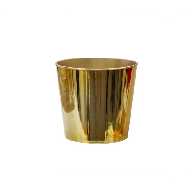 Flora Flower Pots & Planters - Flora Chrome Pot Round (13Dx11.5cmH) Gold