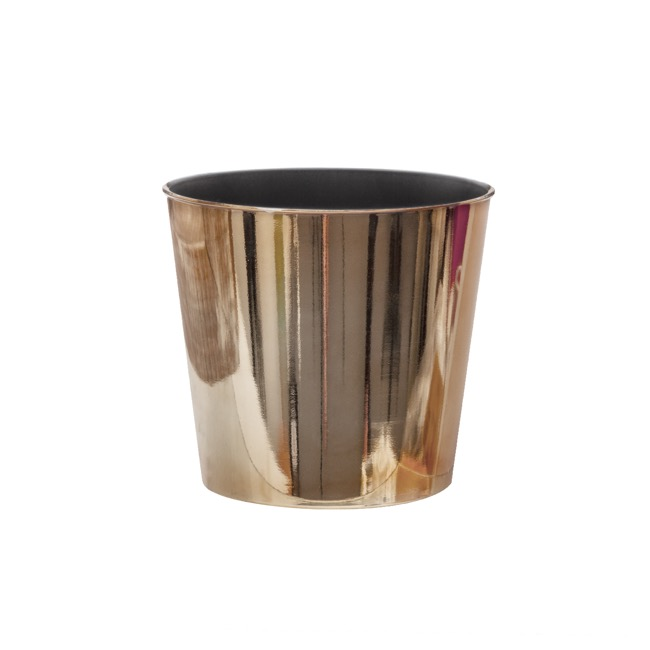 Flora Flower Pots & Planters - Flora Chrome Pot Round (15.5Dx13cmH) Rose Gold