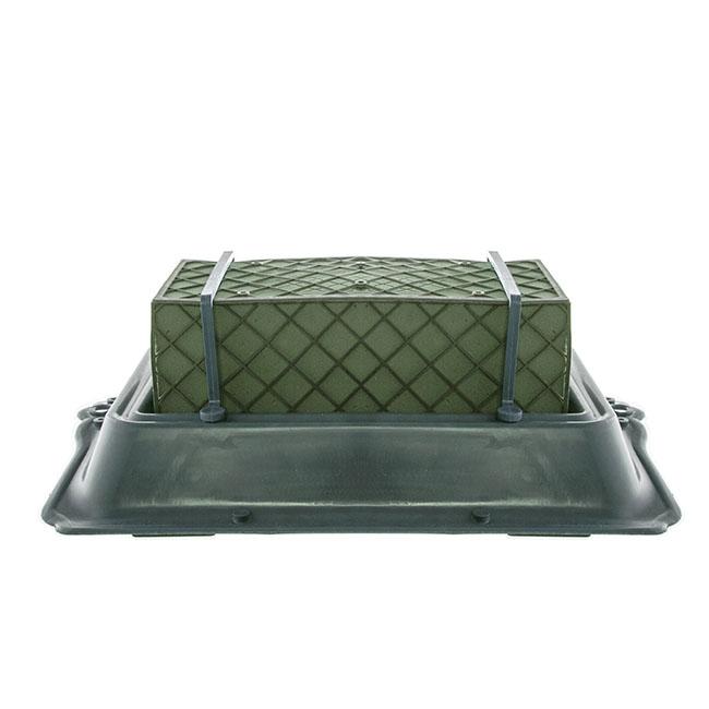 Single Casket Saddle Tray Caged Floral Foam 35x24 5x11 5cmh