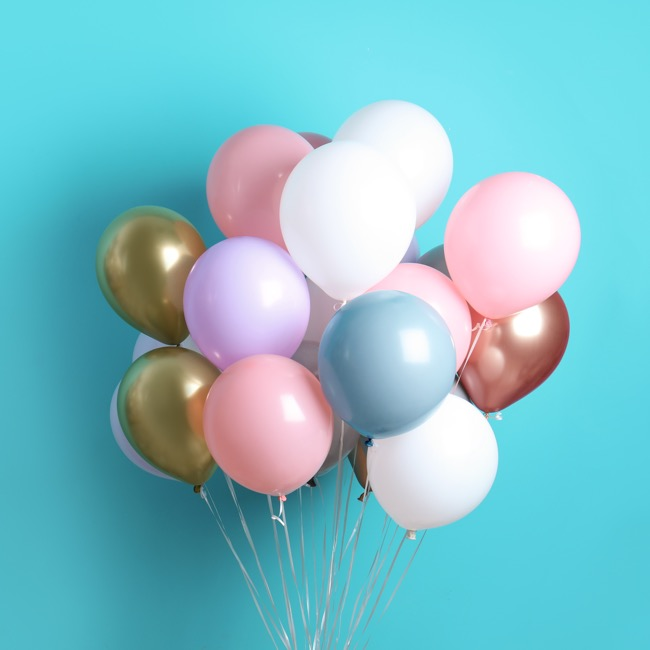 Latex Balloons - Latex Balloon Helium Grade Pack 100 Metallic Rose Gold(30cm)