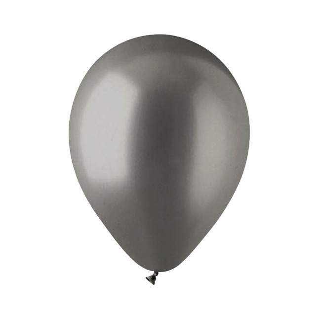 Latex Balloons - Latex Balloon Helium Grade Pack 100 Metallic Graphite (30cm)