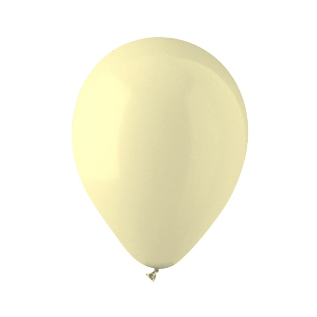 Latex Balloons - Latex Balloon Helium Grade Pack 100 Pastel Yellow(30cm)
