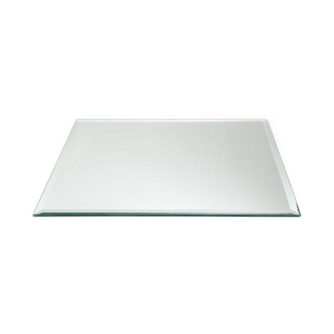 Square Mirror Candle Plate with Bevelled Edge (30cm/12