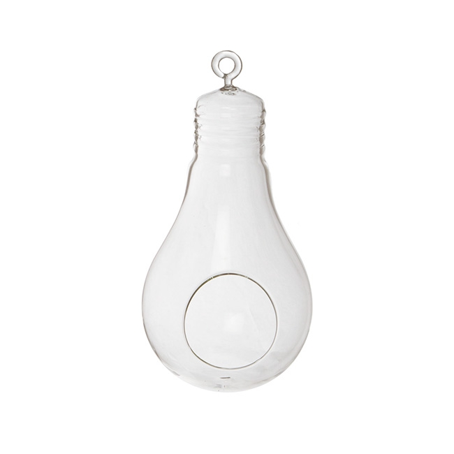Hanging Glass Light Bulb With Opening Clear 13dx25cmh