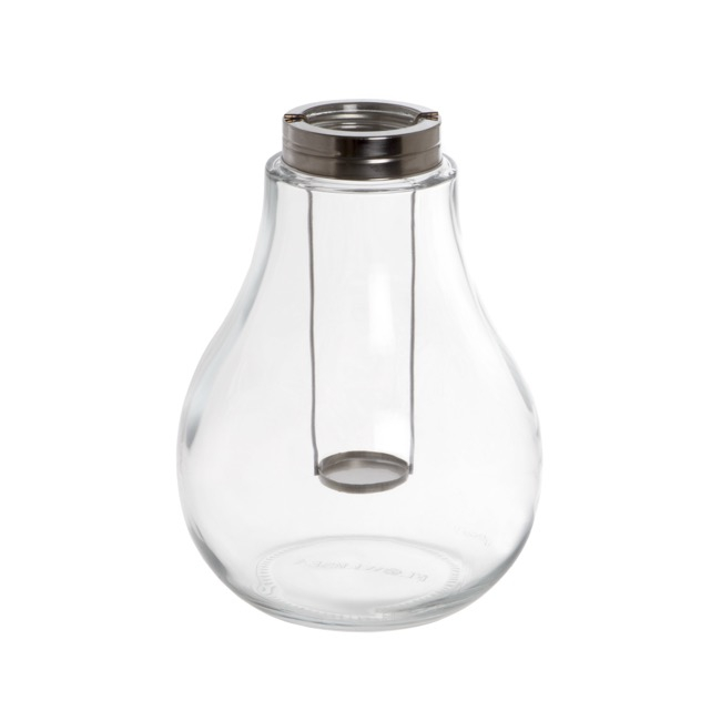 Glass Bulb Lantern Clear (20x27cmH)
