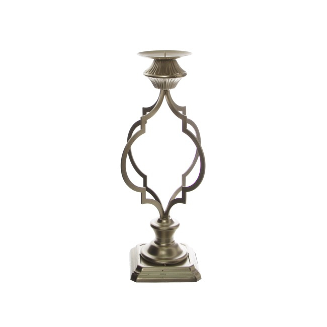 Candelabras - Metal Candle Holder Spiral Gold (17.5x47.5cmH)