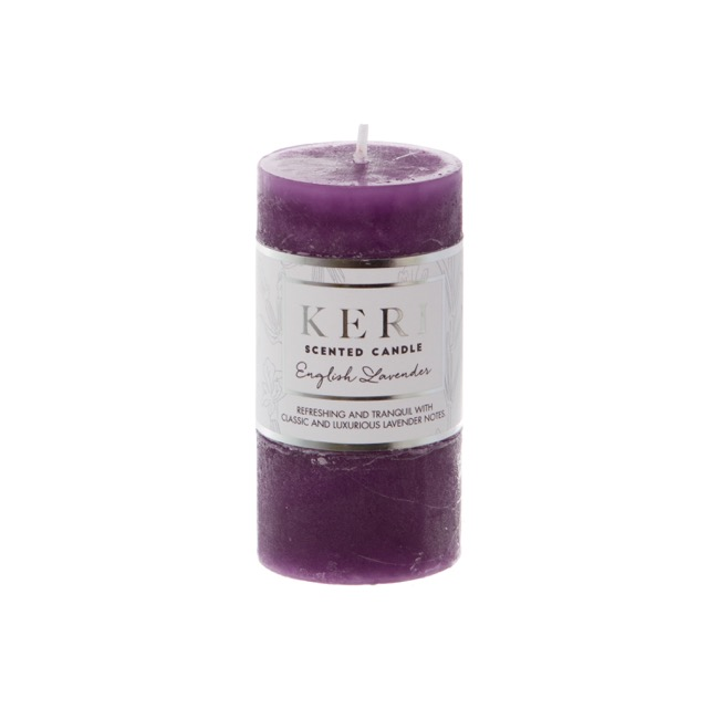Premium Scented Candle English Lavender (5x10cmH)