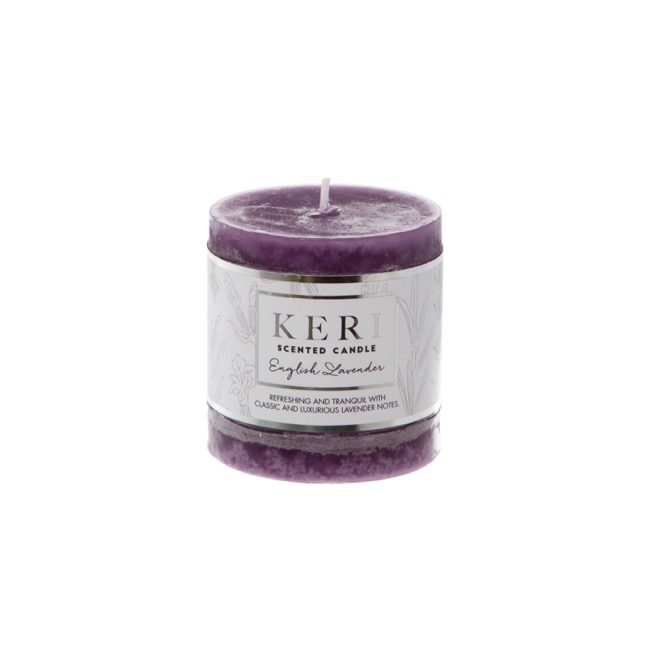 Premium Scented Candle English Lavender (7x7.5cmH)