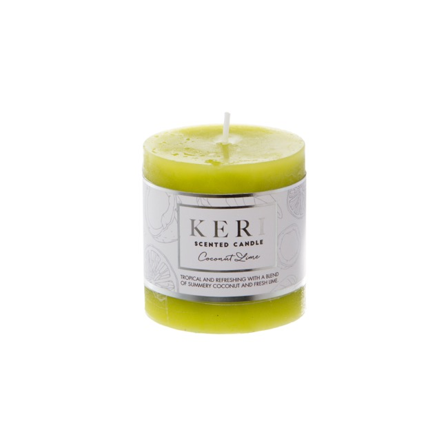 Premium Scented Candle Coconut Lime (7x7.5cmH)