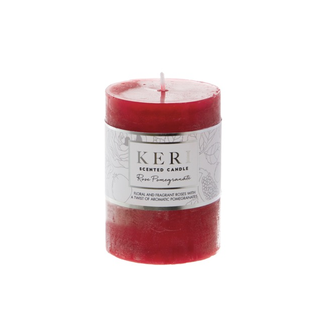 Premium Scented Candle Rose Pomegranate (7x10cmH)