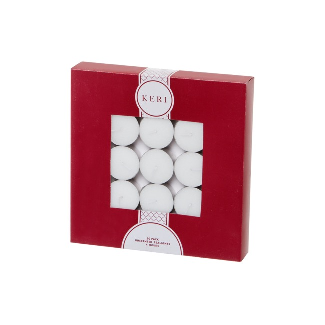 Tealight Candle 4Hr 50 Pack Bulk Pack White