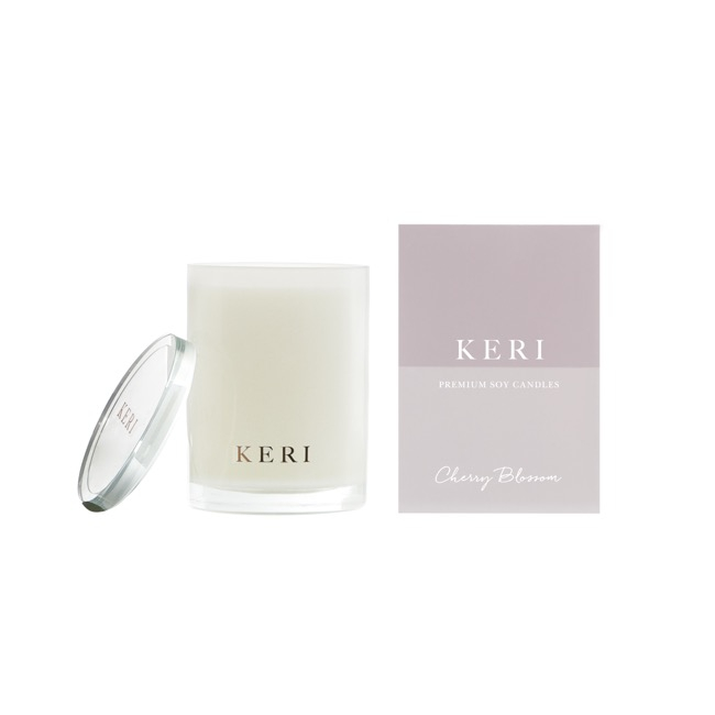 Keri Luxury Soy Candles - Cherry Blossom Keri Luxury Soy Candle Boutique Jar 280g