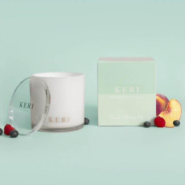 Keri Luxury Soy Candles - Peach & Berry Fig Keri Luxury Soy Candle Indulgence Jar 410g