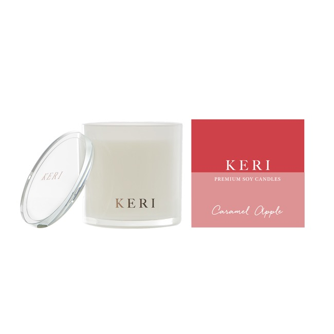 Keri Luxury Soy Candles - Caramel Apple Keri Luxury Soy Candle Indulgence Jar 410g