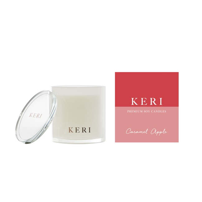 Keri Luxury Soy Candles - Caramel Apple Keri Luxury Soy Candle Sampler Jar 110g