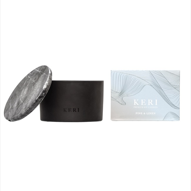 Keri Limited Soy Candles - Pine & Linen Keri Soy Candle Marble Collection 500g