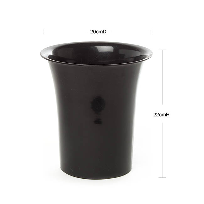 Floral Display Vase - Flower Display Vase 3.5L 20cmDx22cmH Black