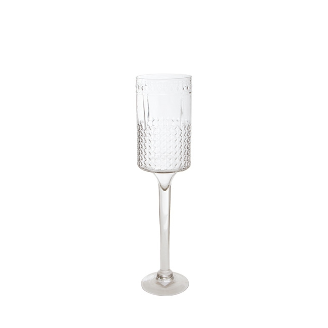 Glass Goblet Fostoria Candle Holder Clear (12cmDx50cmH)