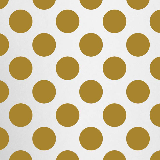 Cello Pattern - Cello Clear Bold Dots 40mic Gold (50x70cm) Pack 100