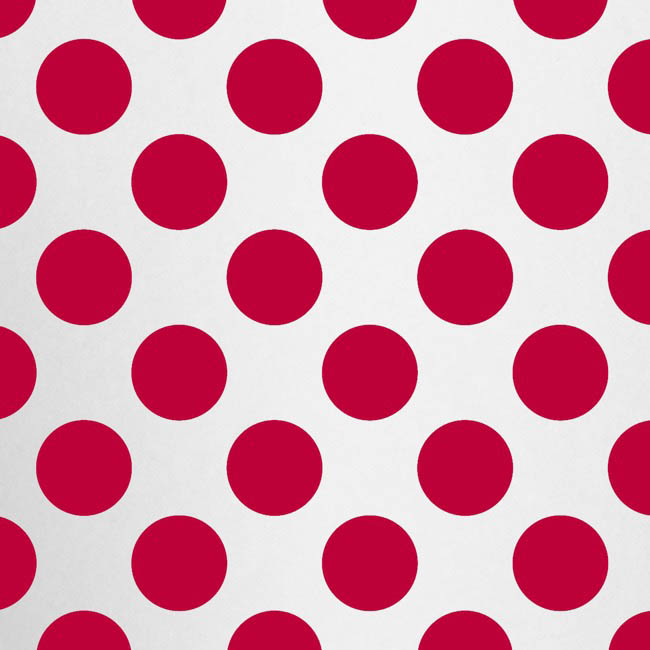 Cello Pattern - Cello Clear Bold Dots 40mic Red (50x70cm) Pack 100