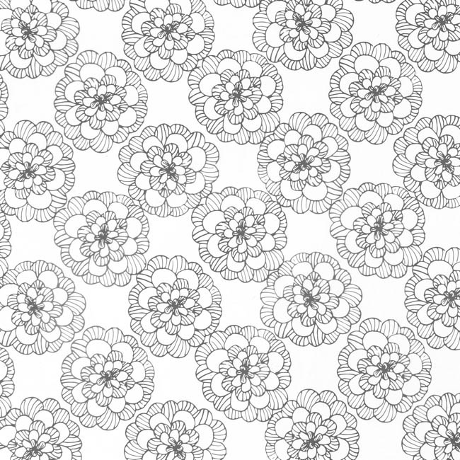 Cello Pattern - Cello Frosted Bloom 40mic Charcoal (50x70cm) Pack 100