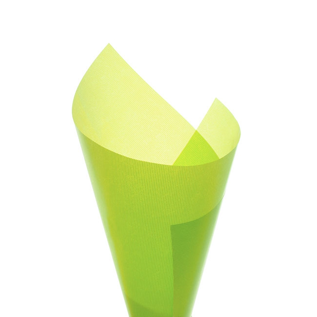 Cello Ribbed Kraft Look 40mic 50x70cm 100sheets Lime
