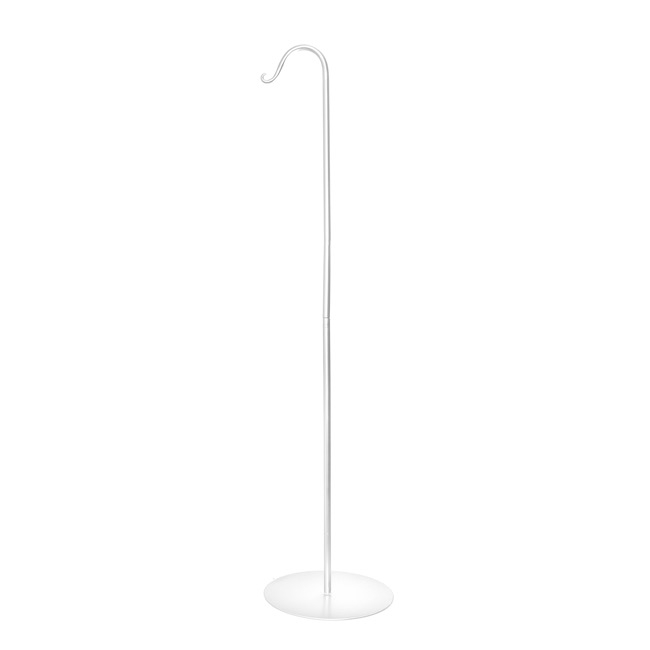 Shepherd Hooks - Shepherd Hook with Metal Stand White (130cmH)