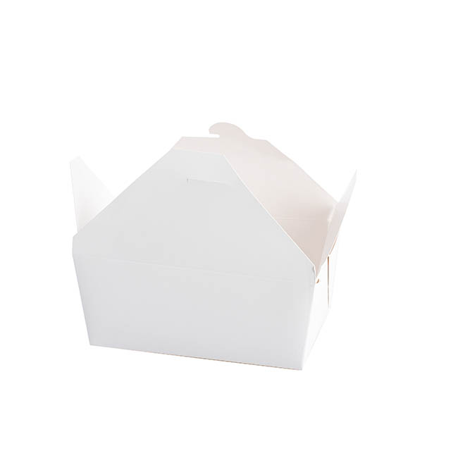 Patisserie & Cake Boxes - Food Pail Pack No.2 White (200x140x50mmH)