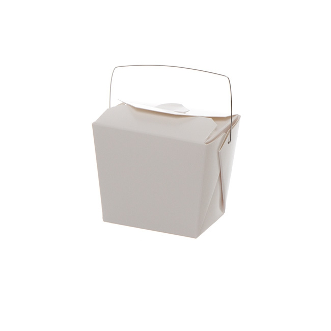 Patisserie & Cake Boxes - Food Pail 8oz White (62x46x66mmH)