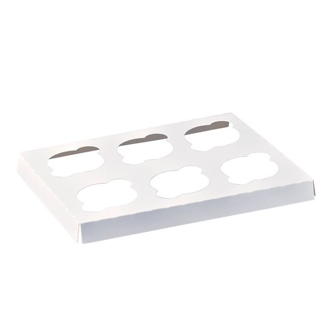 Patisserie & Cake Boxes - Cupcake Insert 6 Cupcakes White (290x236mmW)