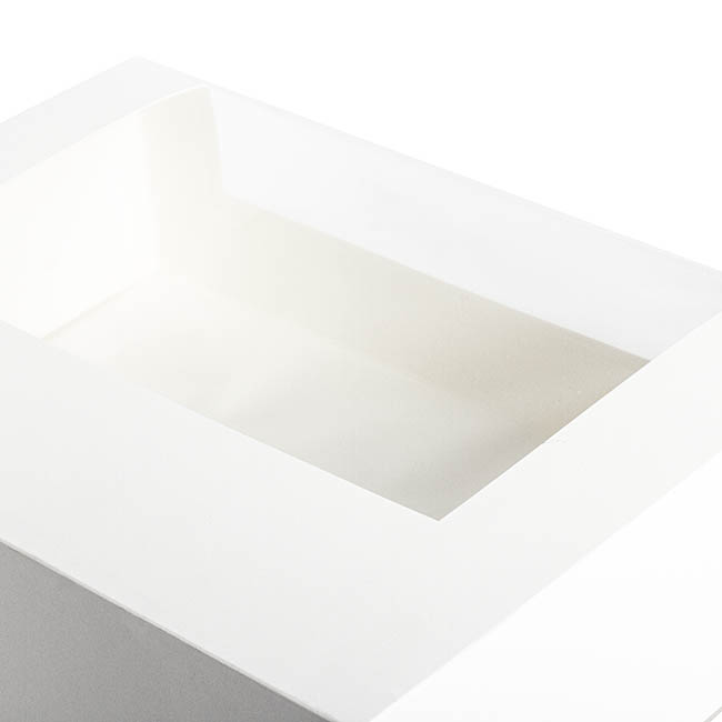 Patisserie & Cake Boxes - Patisserie Window Box 12 Cupcakes White (360x255x100mmH)