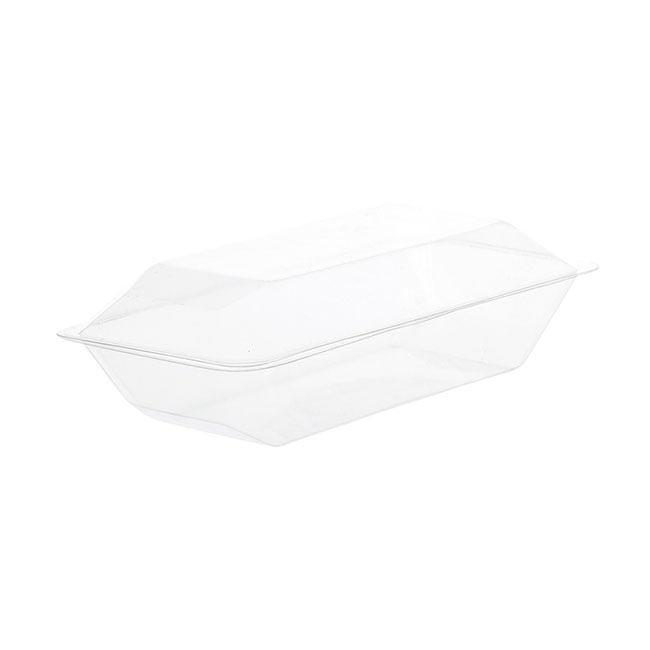Acetate Corsage Clam Shell Box Single Clear (225x120x70mmH)