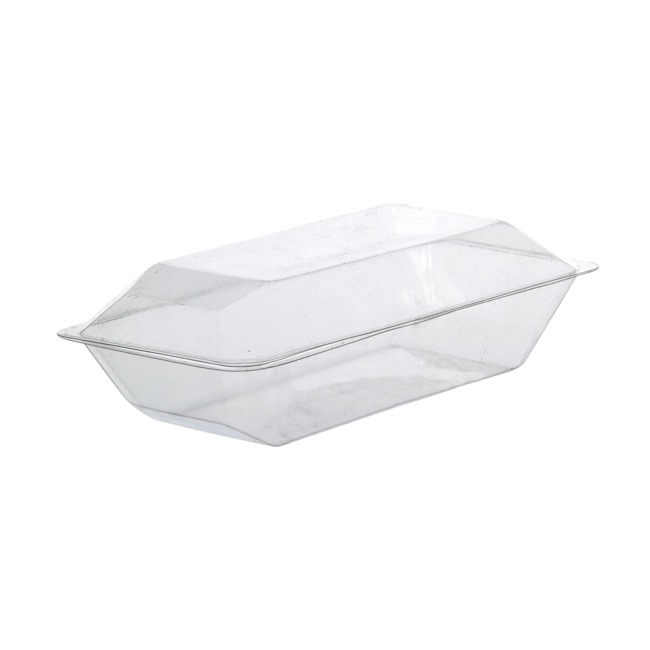 Acetate Corsage Bomboniere Box - Acetate Corsage Clam Shell Box Clear (225x120x70mmH) Pack 10