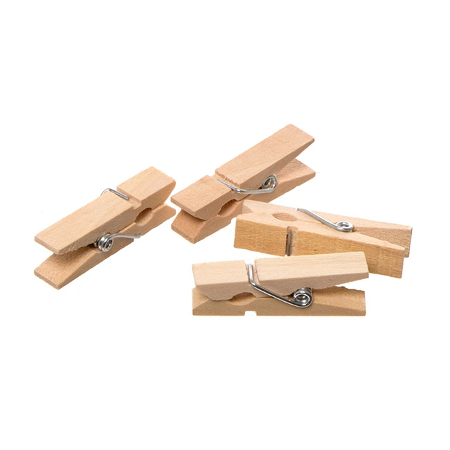 Decorative Pegs - Wooden Peg Natural (35mm) Pack 25