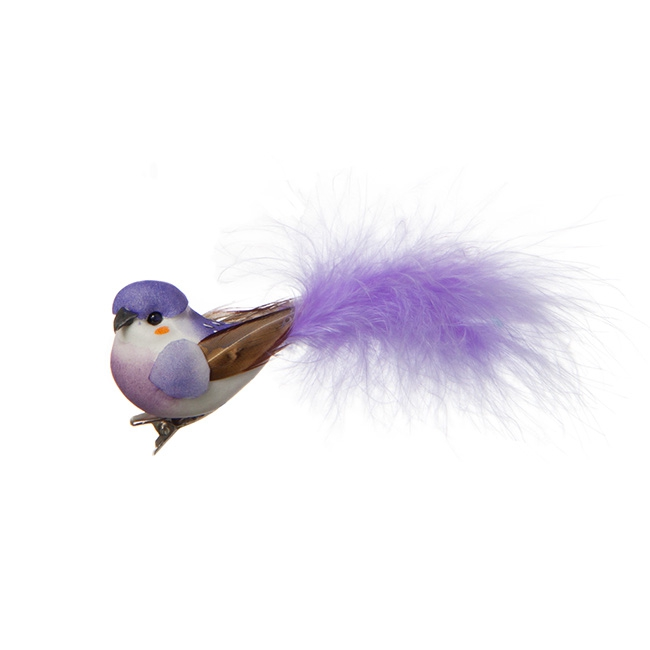 Bird Coco Clip 2 Pack Lavender (9cmD)