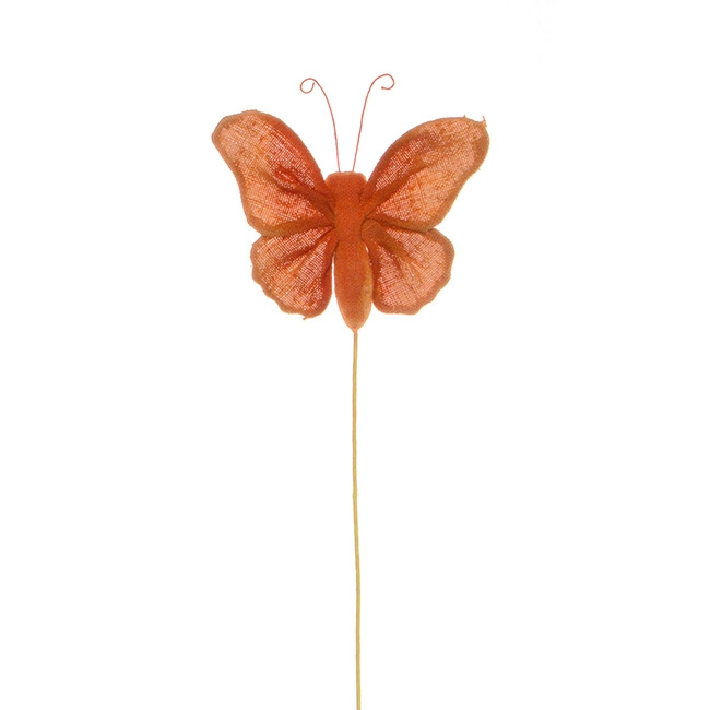 Butterfly Pick Fabric Single Orange (35cmH)