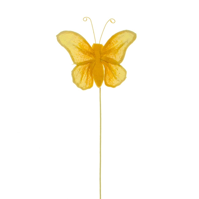 Butterfly Pick Fabric Single Yellow (35cmH)