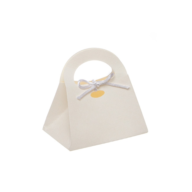 Embossed Handbag Bomboniere Party Favour PK10 White(8x6x9cm)