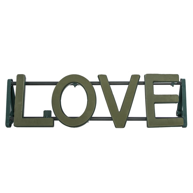 Cages, Casket Covers & Trays - Floral Foam Strass Letter LOVE (90x26cmH)