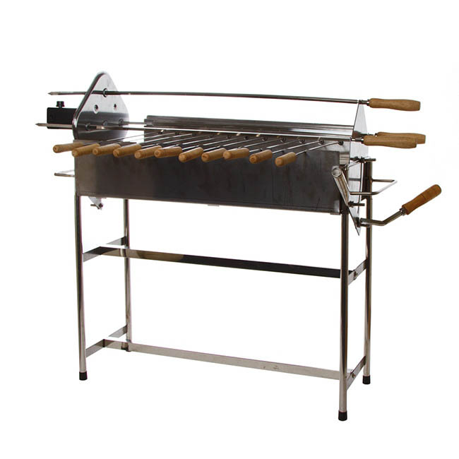 BBQ Stainless Steel Cyprus Grill 83x32x65cm with Auto Rotate