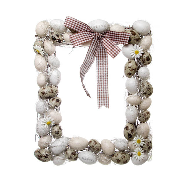 Easter Egg Square Wreath Natural (40cmx50cmH)