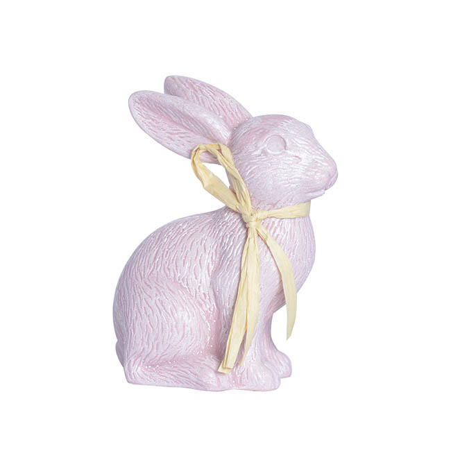 Easter Decoration & Decor - Sitting Rabbit Light Pink (15cmH)