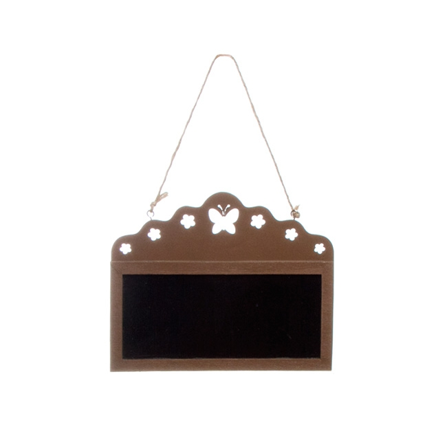 Wooden Chalkboard Hanging Decoration Brown (17cmx14cmH)