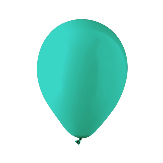 Latex Balloons - Latex Balloon Helium Grade Pack 18 Fashion Turquoise (30cm)