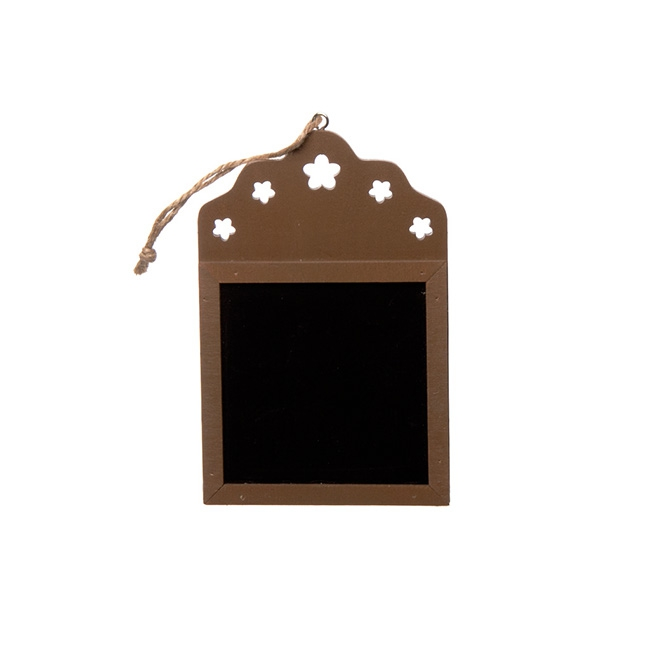 Wooden Chalkboard Hanging Decoration Brown (9cmx14cmH)