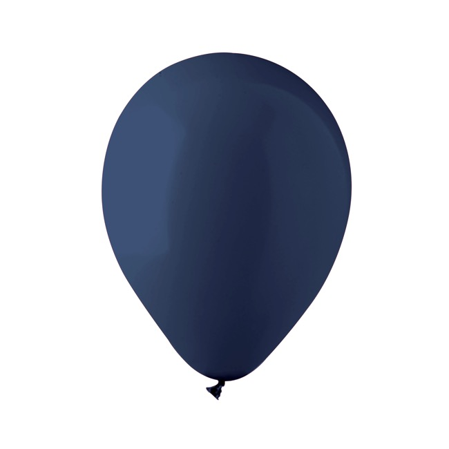 Latex Balloons - Latex Balloon Helium Grade Pack 18 Fashion Navy (30cm)