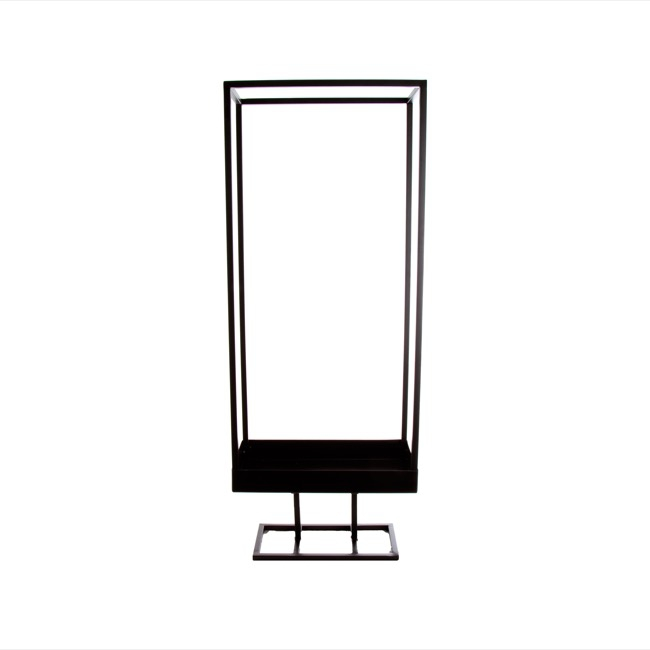 Metal Frame Rectangle Decoration Black (30x15x78cmH)