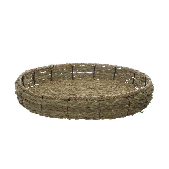 Hamper Tray & Gift Basket - Seagrass Tray Round (36x36x8.5cmH)