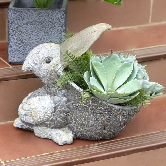 Home Seasonal Decorations - Pete Pelican Garden Planter Decoration (38cmH)