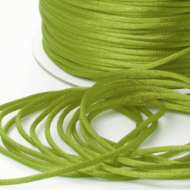Cords - Satin Cord Lime (2mmx100m)